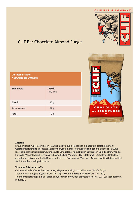 Chocolate Almond Fudge Clif Bar Review