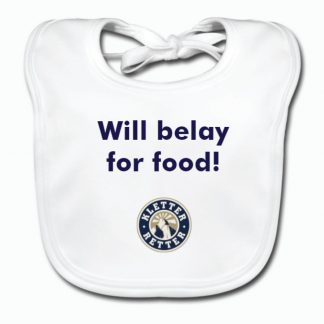 Baby Bib – Will belay for food!