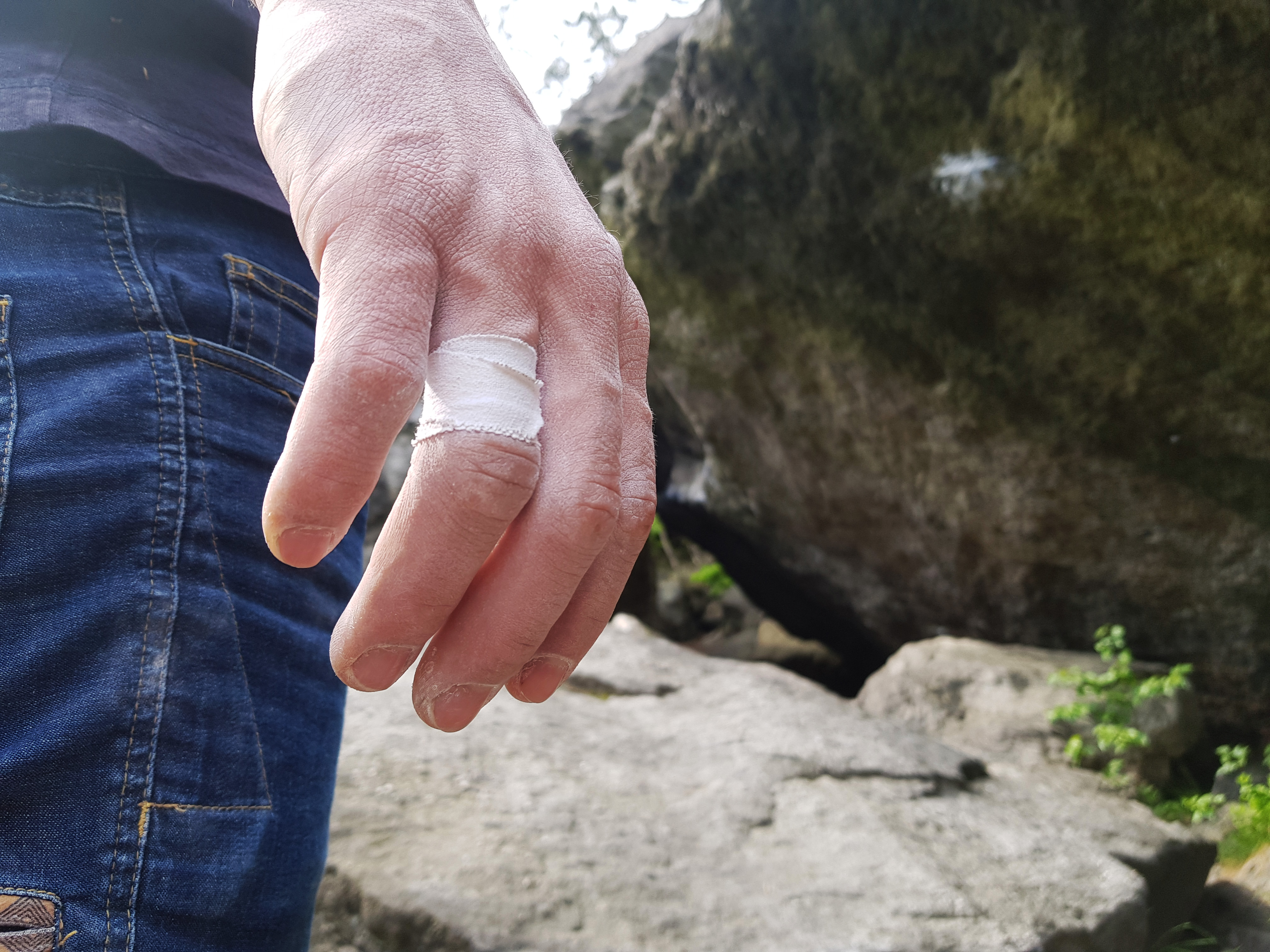 Finger tape for climbers
