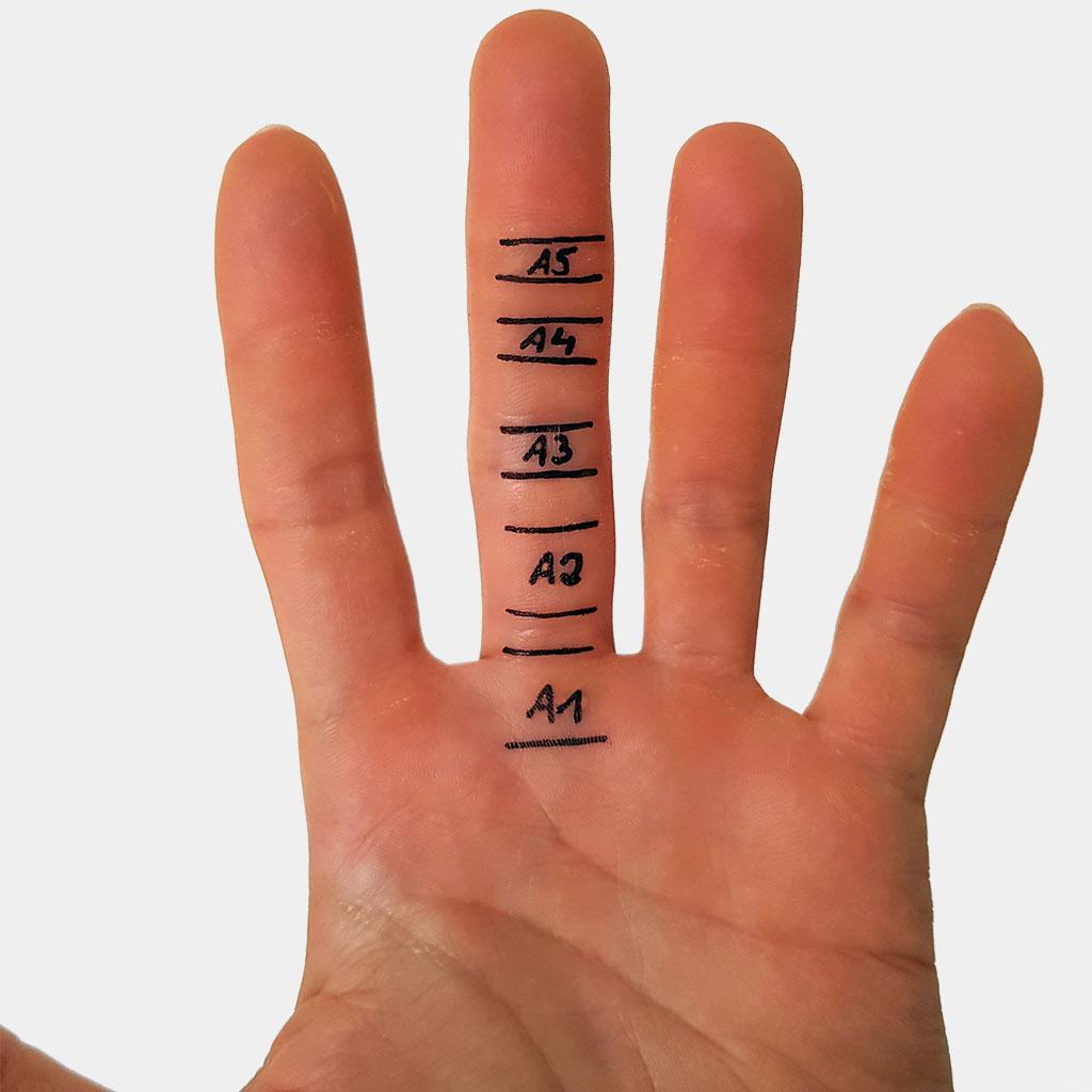 Eingerissene fingerkuppen