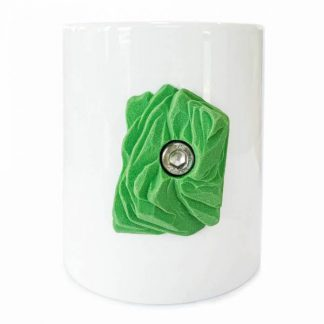 Coffee mug with climbing hold