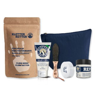 KletterRetter skincare set with chalk